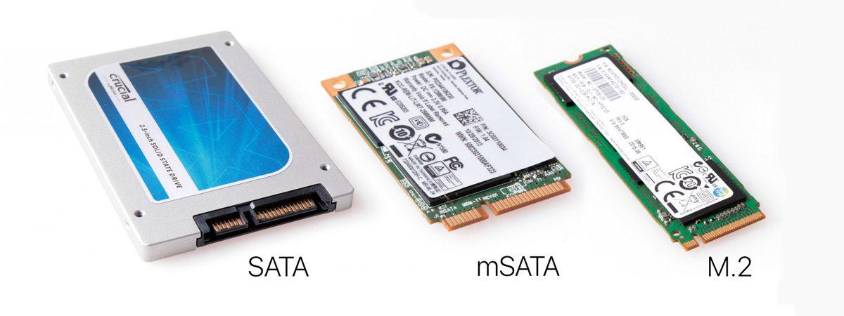 Các loại ổ cứng SSD phổ biến hiện nay