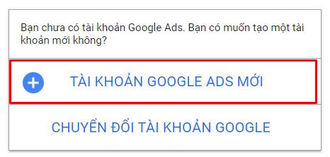 Tài khoản Google Ads cá nhân