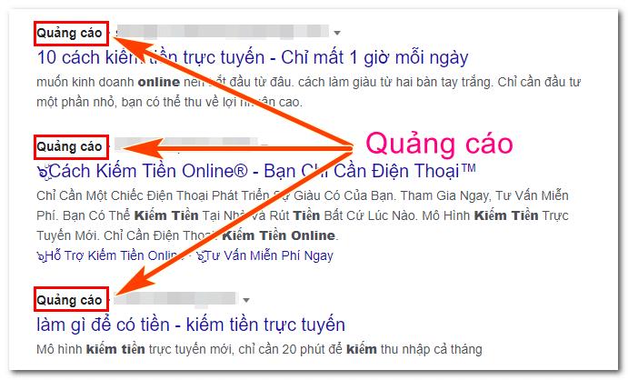quảng cáo kiếm tiền online
