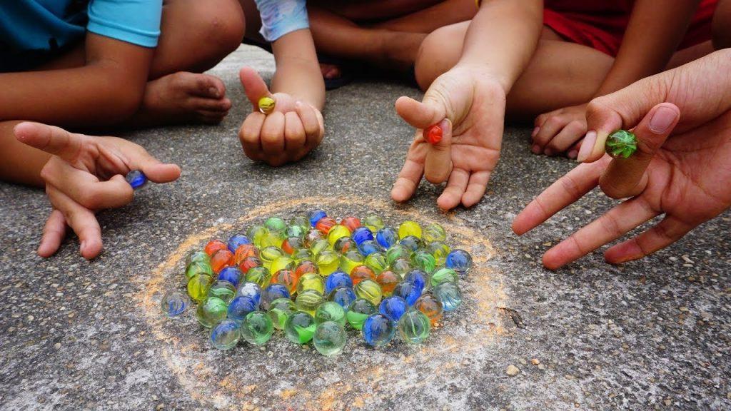 Bắn bi - Trò chơi dân gian dành cho bé